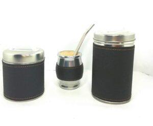 Set de mate x 3 color negro liso