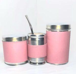 Set de mate x 3 color rosa