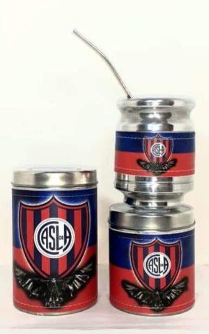 Set de mate x 3 diseño del Club San Lorenzo