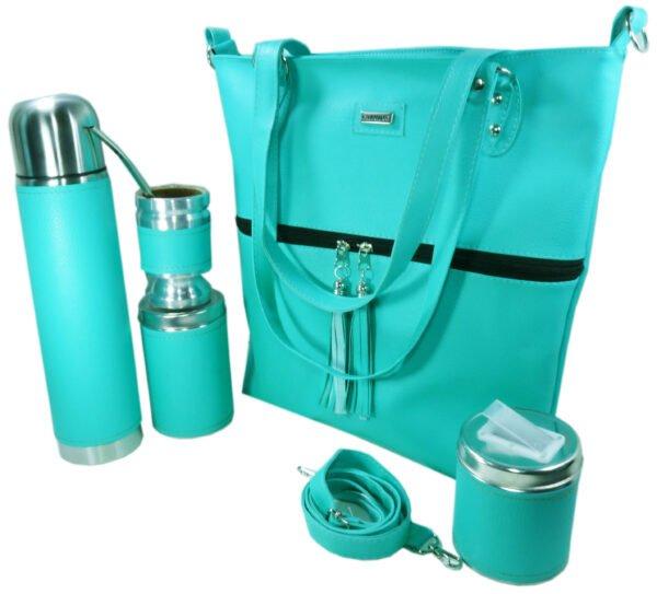 Set matero con cartera color verde agua