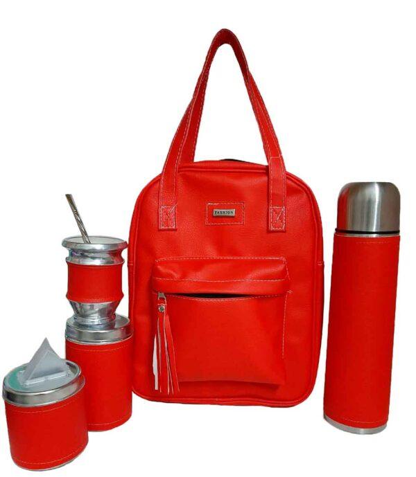 Set matero color rojo estilo Luli