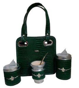 Mini Set matero color croco verde