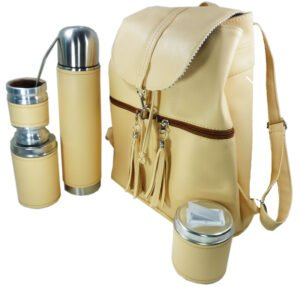 Set de mate con mochila color natural estilo Aylen