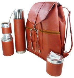 Set de mate con mochila color terra estilo Aylen