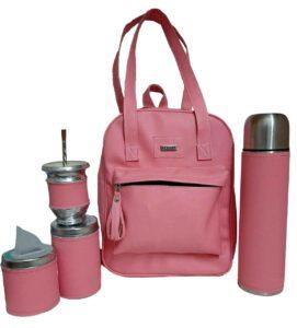 Set matero color rosa estilo Luli