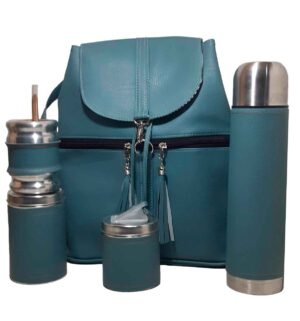 Set de mate con mochila color gris estilo Aylen