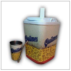 Termolar con diseño de Quilmes