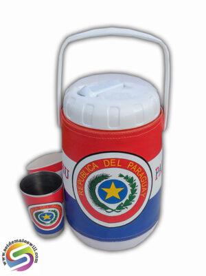 Set de terere de 2 litros con diseño de Paraguay
